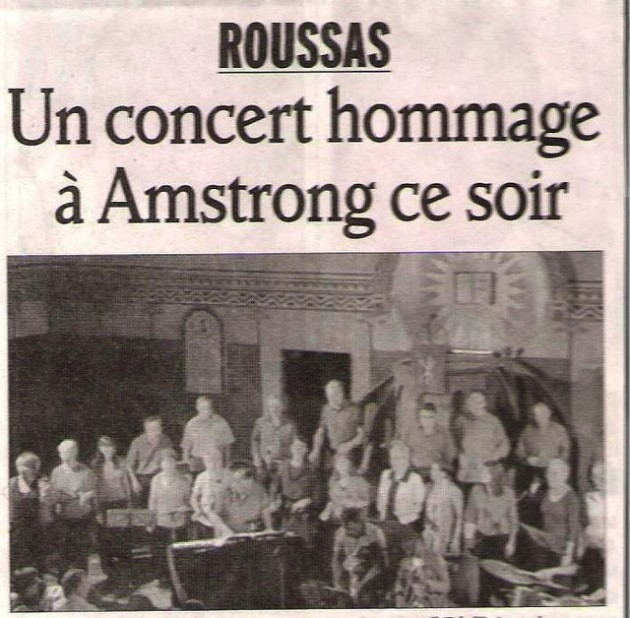 70 7 juillet concert à roussas, article du DL